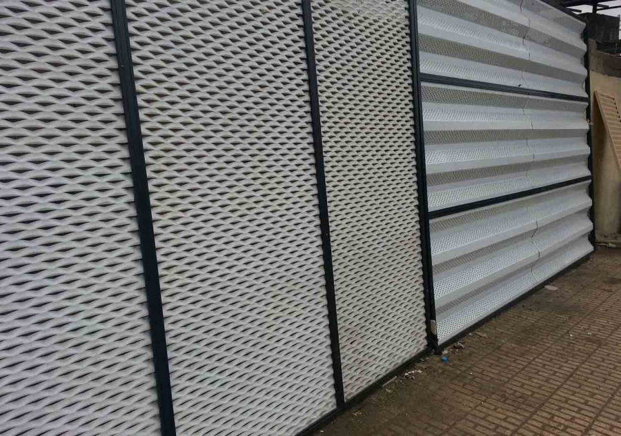 Modern Metal Fence for Buildings and Villas